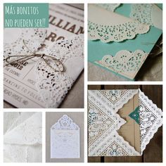 The best ideas for decorating with paper doilies Wedding Cards, Diy Wedding, Wedding Invitations, Papel Doilie, Paper Crafts Magazine, Art And Hobby, Paper Lace, Diy Birthday, Doilies