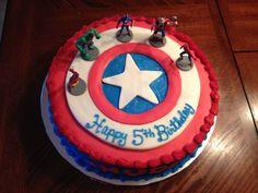 Captain America avengers cake
