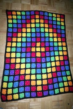 Stained Glass look Afghan