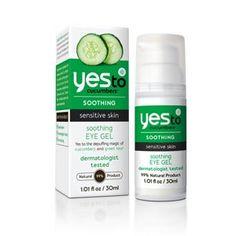 Yesto Cucumbers Soothing Eye Gel for Sensitive Skin. Depuff with cucumbers and green tea.