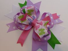 Butterfly Delight Boutique Hair Bow by RedandPinkBoutique on Etsy, £3.75