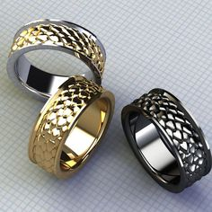 Gents Men's Dragon Ring Band Oxidized Silver Men's Ring, Dragon Jewelry Scale Ring Two Tone Silver and Gold Jewelry