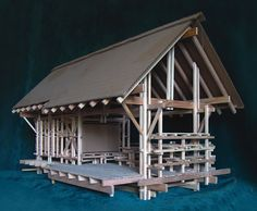 Shelter From the Storm: University of Washington Undergraduate Architecture Studio Project Wooden Architecture, Architecture Drawings, Architecture Design, Japanese Joinery, Moise, Arch Model, Tiny House Cabin, Small Buildings, Tropical Design