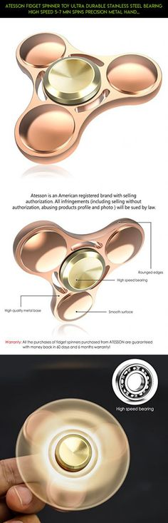 ATESSON Fidget Spinner Toy Ultra Durable Stainless Steel Bearing High Speed 5-7 Min Spins Precision Metal Hand  Spinner EDC ADHD Focus Anxiety Stress Relief Boredom Killing Time Toys #drone #gadgets #metal #racing #spinner #products #fpv #fidget #colorful #plans #shopping #parts #camera #tech #kit #technology