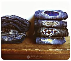 O needs this...  Upcycled Tie Patches for Jeans