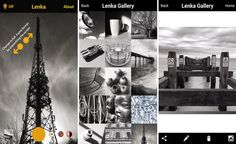 Lenka: app móvil para capturar bellas fotos en blanco y negro