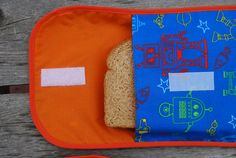 How to sew a reusable fabric sandwich bag