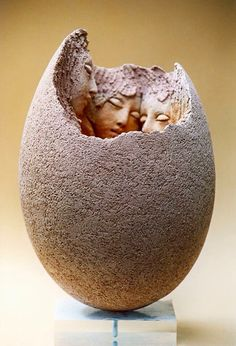 this beautiful, tender representation of youth. Georges Saulterre Sculpture - Art People GalleryLove this beautiful, tender representation of youth. Art Pieces, Art Works, Figurative Sculpture, Pottery Sculpture, Sculpture Art, Installation Art, Clay Sculpture, Contemporary Art, Egg Art