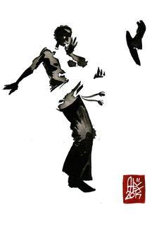 Encres : Capoeira – 584 [ #capoeira #watercolor #illustration]