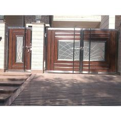 Silver Stainless Steel Safety Gate, Rs 330 /kg National Steel Craft House Main Gates Design, Ramp Design, House Gate Design, Entrance Gates Design, Gate Designs Modern, Steel Door Design, Front Gate Design, House Front Gate, Modern Entrance