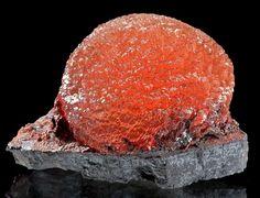 Olmiite set atop matrix, N'Chwaning ll Mine, Kuruman, Kalahari manganese fields, Northern Cape Province, South Africa 2.2 cm x 3.1 cm x 2 cm