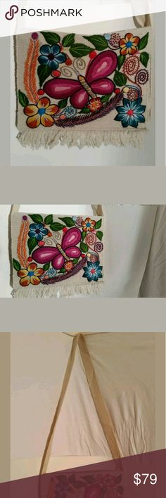 NWOT Hand Crafted Embroidered Peruvian Crossbody 65968e64f1c