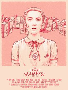 The Grand Budapest Hotel - Agatha movie poster - Bartosz Kosowski