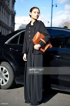 Jenny Walton poses in a vintage outfit on Day 2 of Paris Fashion Week Womenswear FW 15 on March 4, 2015 in Paris, France.