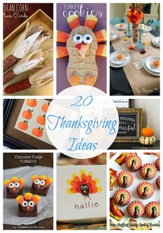 20 Thanksgiving Ideas -crafts, recipes and more!
