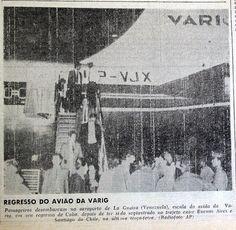 Escala do PP-VJX em Caracas, antes do voo para o Galeão