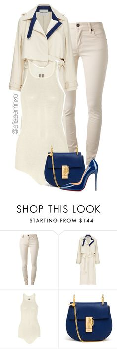 """""""Vanilla and blueberries"""" by efiaeemnxo ❤ liked on Polyvore featuring Burberry, Sandy Liang, Rick Owens, Chloé, Christian Louboutin, christianlouboutin, RickOwens, chloe, sbemnxo and styledbyemnxo"""