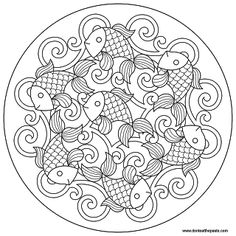 Don't Eat the Paste: Goldfish mandala colouring sheet free download - 2x sizes