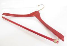 Vintage Red Suit Wooden Hanger from Kaolls the by SandyLeesAttic, $52.00