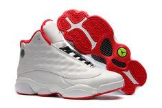 d0dc52ece99 Air Jordan 13 Alternate White Metallic Silver-University Red Red Sneakers
