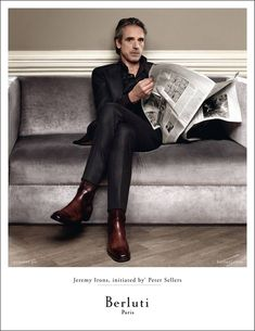 Jeremy Irons for Berluti Ad Campaign