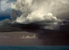 David Warren - Clouds at Coffs Harbour. 2001/10  oil on linen  122 x 168  cm