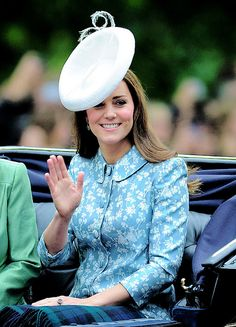 The Duchess of Cambridge at Trooping the Colour, her first official appearance since the birth of Princess Charlotte   June 13, 2015