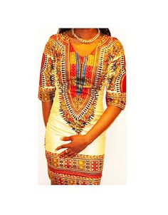Fitted Dashiki Dress Fitted Ankara Dress dashiki by AfrowearHouse