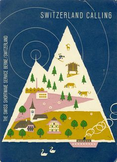 Switzerland, Ham Radio QSL Card from the 1950s/60s.