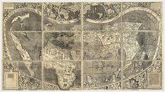 Carte du monde Universalis Cosmographia, 1507 (Martin Waldseemüller)