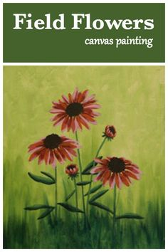 Wild flowers grace the fields with their cheerful colors all summer long. Our Field Flowers painting will bring that beauty indoors to last year-round. #socialartworking #flowers #canvaspainting