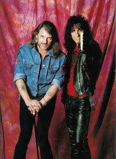 Lemmy Kilmister  Alice Cooper. R.I.P Lem and Happy Bday to Alice, glad you're here