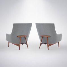Pair of Lounge Chairs by Jens Risom, Model #2136, 1966 image 5