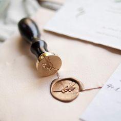 Stamptitude | Olive Branch Wax Seal #wedding #stationery #details