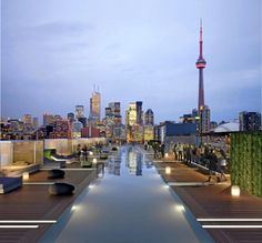 Thompson Roof Bar. Thompson Hotel, Toronto, Canada. #ExploreCanada