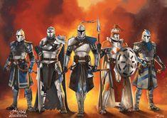 Star Wars Fan Art, Star Wars Clone Wars, Tableau Star Wars, Guerra Dos Clones, Fantasy Star, Fantasy Armor, Images Star Wars, Star Wars Drawings, Armadura Medieval