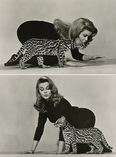 Ann Margret and her beautiful ocelot