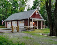 Barn/Garage  (tin roof, less white trim, add cupola and weather vane!)