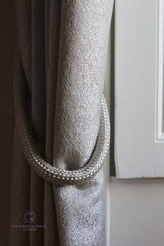 Use a rope tieback tieband to hold curtains back from a window and maximise the light #curtains #tiebacks #curtainmaker