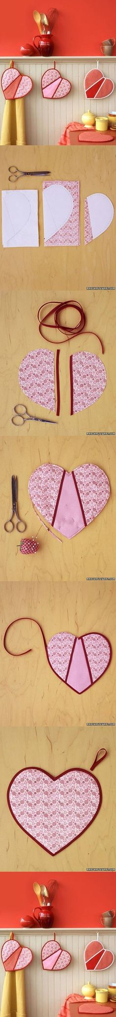 DIY Heart Shaped Pot Holders DIY Heart Shaped Pot Holders