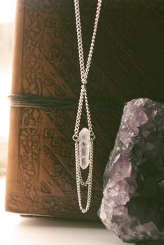 Crystal boho chain necklace