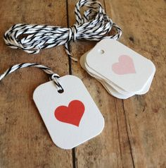 Valentines heart tags - gift tags - packaging supplies. $12.00, via Etsy.
