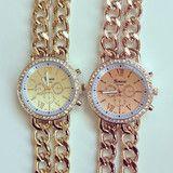 Double Chain Metal Watch | louun
