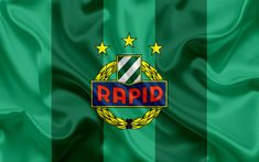 Download wallpapers Rapid Vienna FC, 4k, Austrian football club, emblem, logo, Austrian Bundesliga, Austrian football championship, football, Vienna, Austria, silk texture