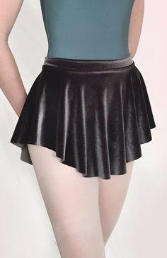 Charcoal grey velvet ballet skirt from Royall Dancewear- dance SAB skirt