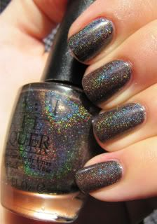 My very favorite nail polish ever...opi changed the formula so now it is an ugly brown and not holographic. It is selling on Ebay for $75! Insane!