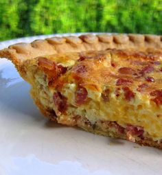 Recipe for Cracked Out Quiche - This quiche was SOOOO delicious! It was so cheesy and packed full of bacon.