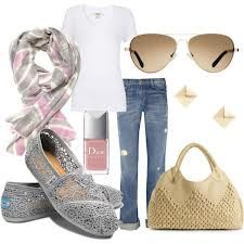 A fashion look from May 2012 featuring tee-shirt, blue jeans and Big Buddha. Browse and shop related looks. Toms Outfits, Casual Outfits, Fashion Outfits, Womens Fashion, Fashion Trends, Fashion Ideas, Fashion Killa, Cheap Toms Shoes, Toms Shoes Outlet
