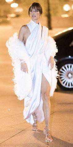 Alessandra Ambrosio in Ralph & Russo attends Paris Fashion Week. #bestdressed