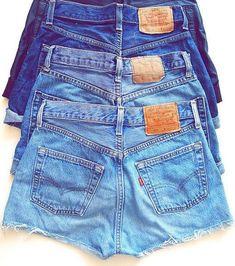 High Waisted Denim Shorts on Etsy, $13.00
